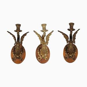 Antique Sconces, Set of 3