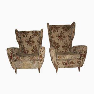 Mid-Century Italian Armchairs, Set of 2