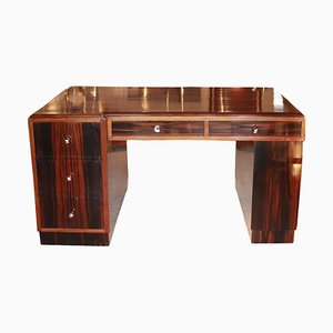 Art Deco Ebony Desk, 1930s