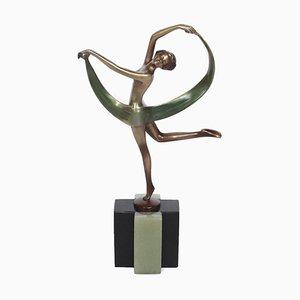 Art Deco Bronze Figurine by Josef Lorenzl, 1920s