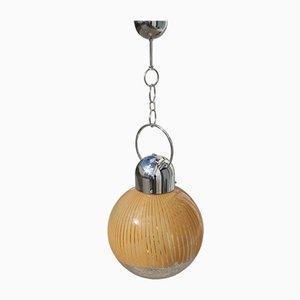 Lámpara de araña de cristal de Murano de Ludovico Diaz de Santillana para Venini, años 70