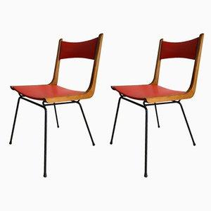 Esszimmerstühle von Carlo de Carli, 1950er, 2er Set