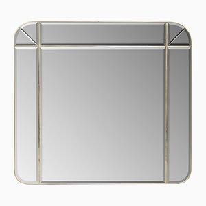 Mid-Century Italian Brass Mirror, 1970s