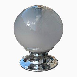 Lámpara de mesa Pop Art de acero, vidrio y cobre de Selenova, años 70