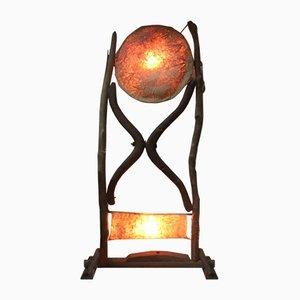 Stehlampe aus Pergament & Holz, 1960er