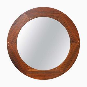 Espejo sueco de palisandro de Uno & Östen Kristiansson para Luxus, años 60