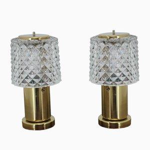 Mid-Century Table Lamps from Kamenický Šenov, 1960s, Set of 2