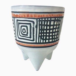 Französische Vintage Molaire Vase von Roger Capron, 1950er