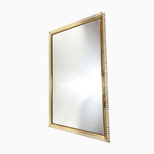 Large Brass Mirror from Vereinigte Werkstätten Collection, 1950s