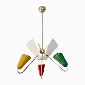 Lámpara colgante francesa vintage de Kobis & Lorence, años 50
