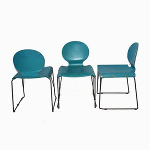 Italienische Esszimmerstühle, 1970er, 3er Set