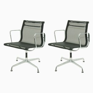 Model EA 108 Swivel Side Chairs by Charles and Ray Eames for Vitra, 1958, Set of 2