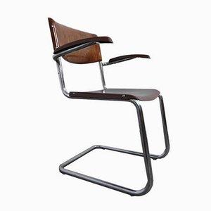 Bauhaus Armlehnstuhl von Mart Stam für Bremshey & Co., 1950er