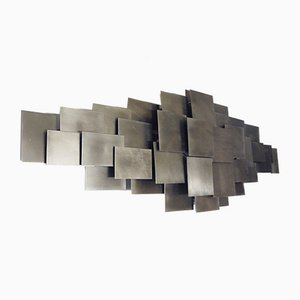 Metal Sculptural Sconce, 1980s