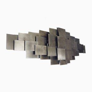 Skulpturale Wandleuchte aus Metall, 1980er