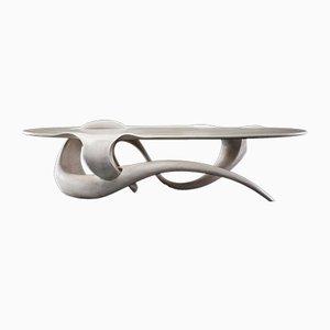 Table Basse en Érable Sculpté par Gildas Berthelot