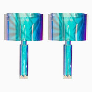 Coloured Kinetic Table Lamps by Brajak Vitberg, Set of 2