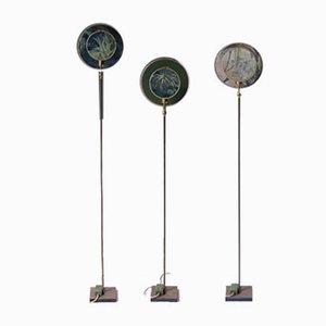 Lámparas de pie de Sander Bottinga. Juego de 3