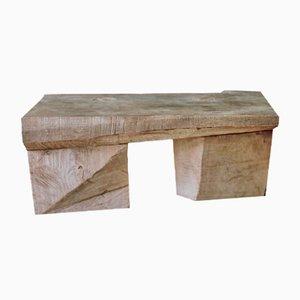 Table en Chêne Sculpté par Denis Milovanov