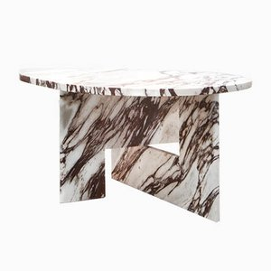 Sculptural Marble Side Table by Sébastien Caporusso