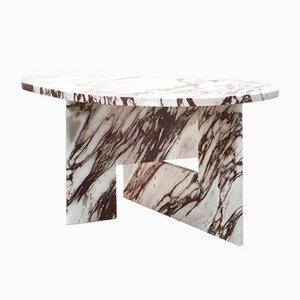 Tavolino scultoreo in marmo di Sébastien Caporusso