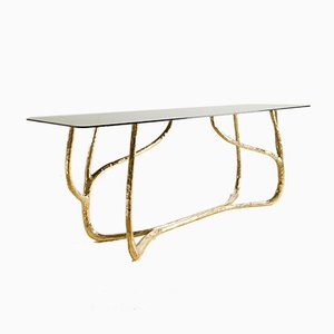 Hand-Sculpted Brass Console by Misaya