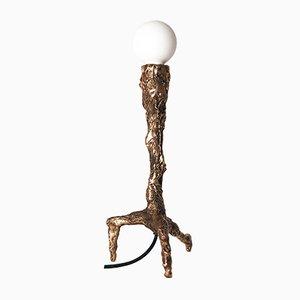 Skulpturale Tischlampe aus Bronze von William Guillon