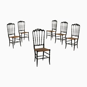 Antique Italian Side Chairs, Set of 6
