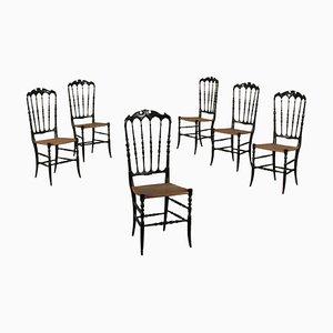 Chaises d'Appoint Antiques, Italie, Set de 6