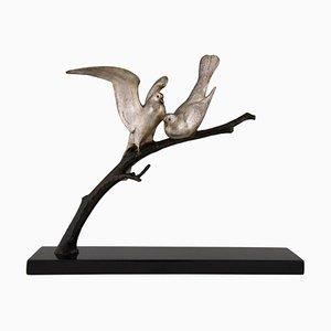 Sculpture d'Oiseau Art Déco en Bronze par André Vincent Becquerel, 1930s