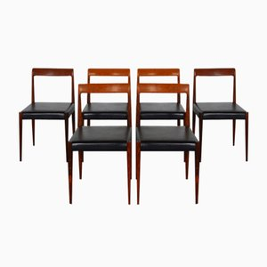 Rosewood Dining Chairs from Lübke, 1960s, Set of 6