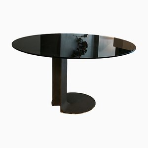 Vintage Modell TI59 Esstisch aus Bronze & Glas von Tobia & Afra Scarpa für Poggi, 1970er