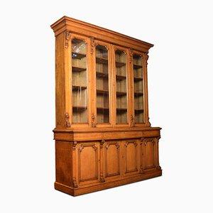 Antikes Bücherregal aus Eiche