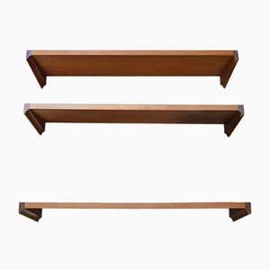 Teak Wall Shelf by H. W. Klein for Bramin, 1960s, Set of 3