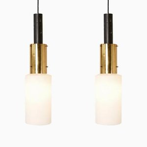 Lámparas colgantes de Stilnovo, años 50. Juego de 2