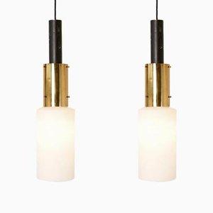 Pendant Lamps from Stilnovo, 1950s, Set of 2