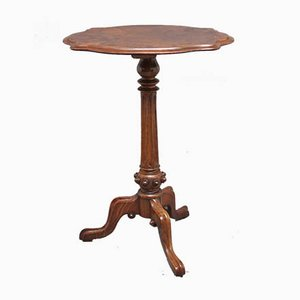 Antique Walnut Burr Side Table