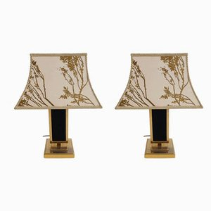 Decorative Pagoda Table Lamps from Maison Charles, 1970s, Set of 2