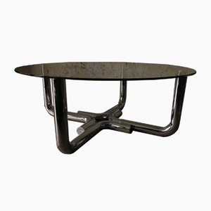 Tubular Steel and Glass Coffee Table, 1960s