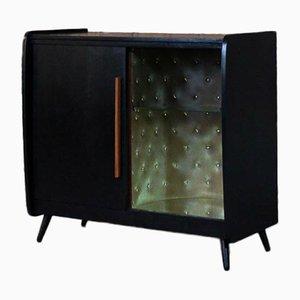 Vintage Black Bar Cabinet, 1970s
