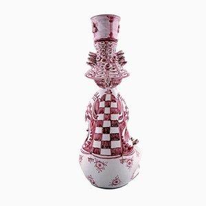 Glasierter Kerzenhalter aus Keramik von Bjørn Wiinblad, 1980er