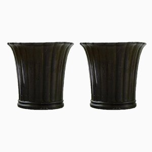 Metal Vases by Just Andersen, 1940s, Set of 2