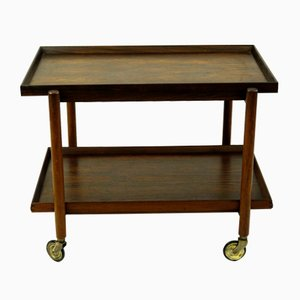 Rosewood Serving Cart by Poul Hundevad for Hundevad & Co., 1960s
