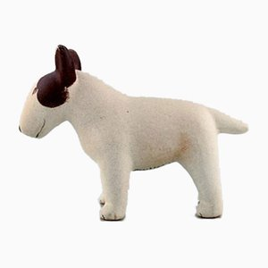 Glazed Stoneware Bull Terrier by Lisa Larson for Gustavsberg, 1970s
