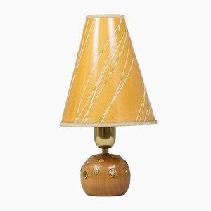 Tischlampe aus Kirschholz von Rupert Nikoll, 1960er