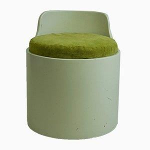 Taburete italiano lacado, años 60