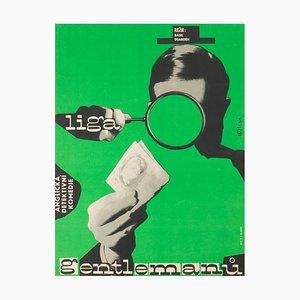 Affiche League of Gentlemen par Milan Grygar, 1964