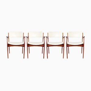 Model 50 Rosewood Armchairs by Erik Buch for Odense, 1960s, Set of 4