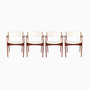 Modell 50 Armlehnstühle aus Palisander von Erik Buch für Odense, 1960er, 4er Set