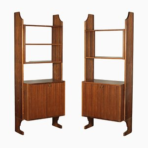 Rosewood Veneer Shelves, 1960s, Set of 2